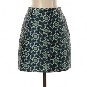 Ted Baker Pencil Green Floral Print Skirt